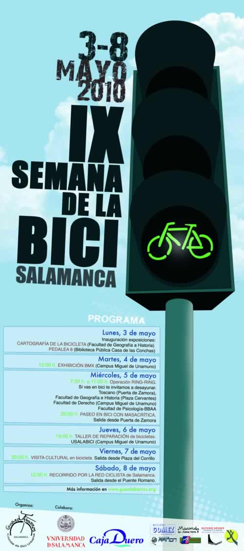 Cartel Semana Bici Salamanca