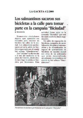 Dossier Prensa 200. Guardabarros. Comité de Bici Urbana Salamanca.