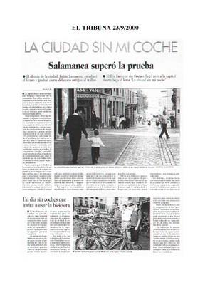 Dossier Prensa 2000. Guardabarros. Comité de Bici Urbana Salamanca.