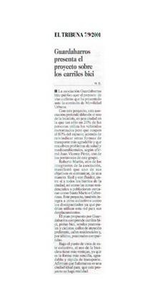 Dossier Prensa 2001. Guardabarros. Comité de Bici Urbana Salamanca.