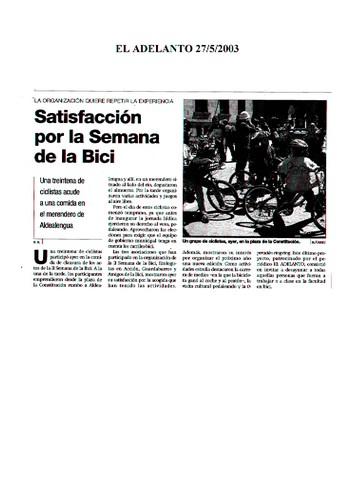 Dossier Prensa 2003. Guardabarros. Comité de Bici Urbana Salamanca.