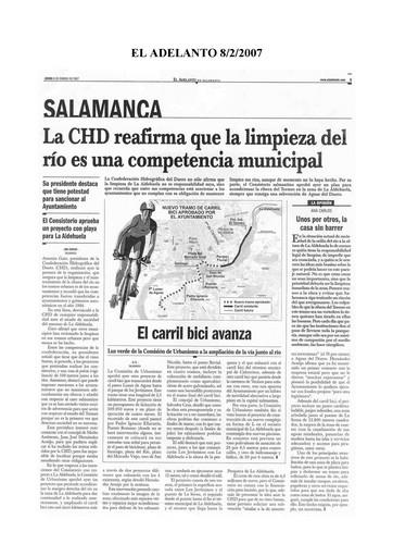 Dossier Prensa 2007. Guardabarros. Comité de Bici Urbana Salamanca.
